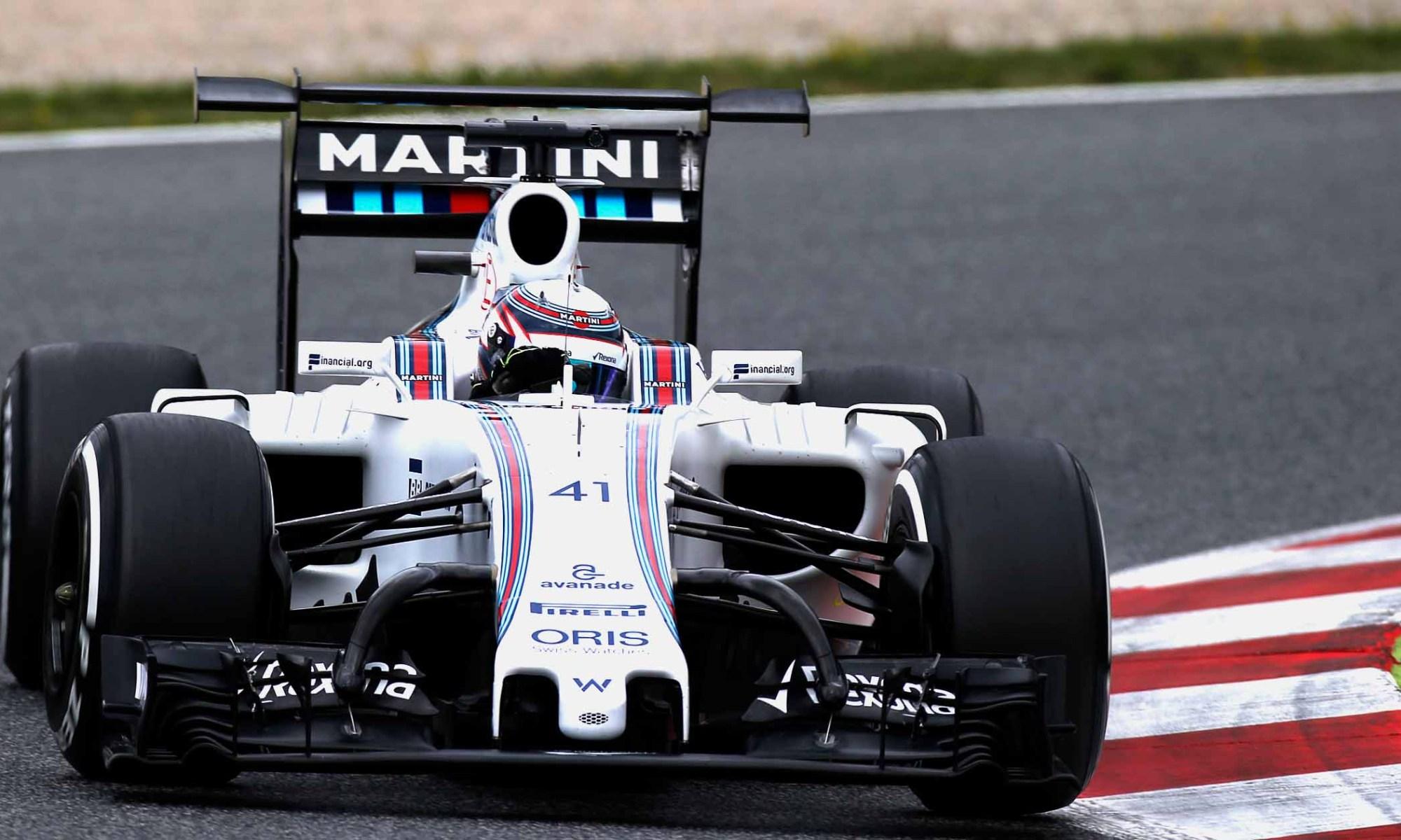 Williams testar radikal vinge