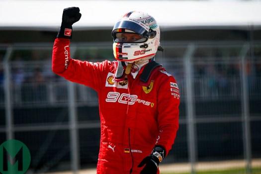 Sebastian Vettel firar pole i Kanada