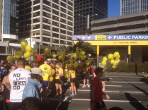 There were a lot of runners (this is just for the fun run, the half-marathon and 10km runners have gone ahead)
