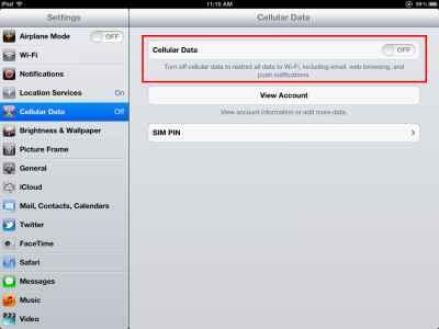 comment activer 3G sur ipad