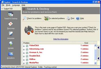 Spybot Search Spybot Search and Destroy logiciels gratuit anti-malware
