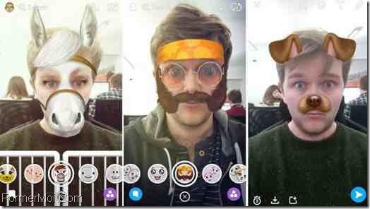 fonction Snapchat's Lenses