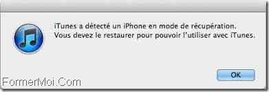 iPhone X en mode DFU