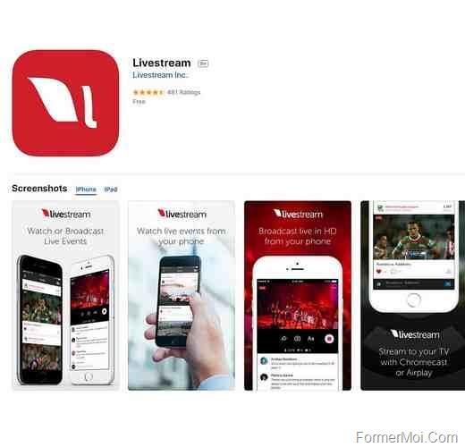 Livestream-iOS-app-for-live-sports-streaming