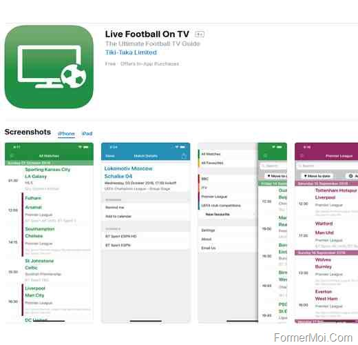 live football iphone