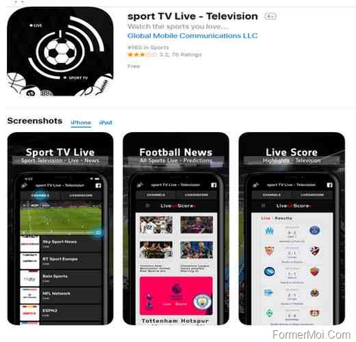 sport TV Live - Chaînes sportives en direct