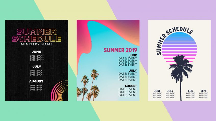 Free Summer Calendar Templates For Youth Ministry