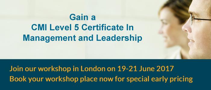 CMI Certificate workshop in London
