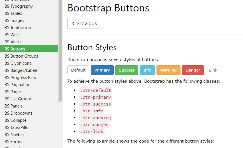 Bootstrap Buttons Examples Tutorial Basic Advanced Usage Material