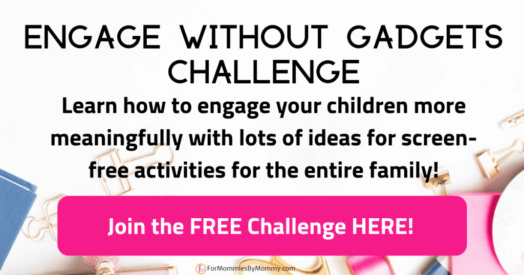 engage without gadgets challenge. screen free activities for families