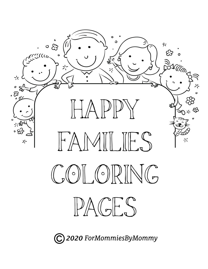 20+ Free Printable Family Coloring Pages - EverFreeColoring.com | 1024x791