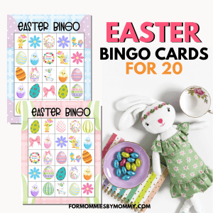 Printable Easter Bingo Game Cards For 20