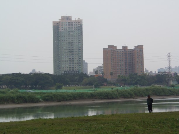 Buildings across Hsin-Tian River outside Treasure Hill
