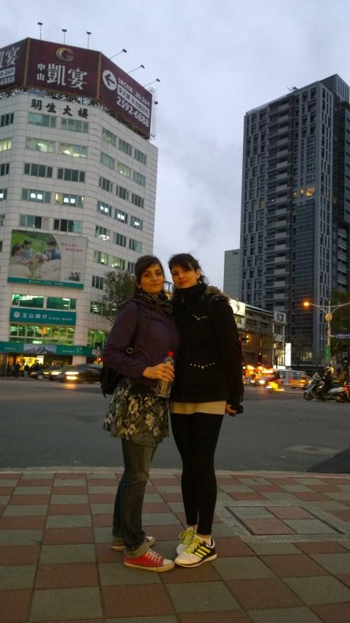 Eleni & Artemis, on crossroads near Little Tokyo