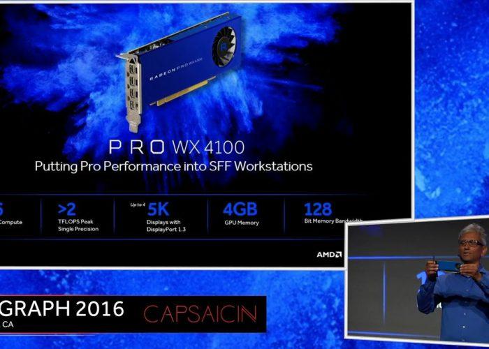 AMD Radeon Pro WX 4100 Presentación