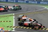 Jenson Button (McLaren Mercedes, MP4-28) and Paul di Resta (Force India F1 Team, VJM06)