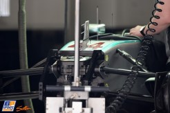 A Detail of the Mercedes AMG F1 Team F1 W05
