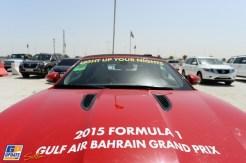 Advertising for the 2015 Formula 1 Gulf Air Bahrain Grand Prix