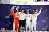 The Podium : Second Place Kimi Räikkönen (Scuderia Ferrari), Race Winner Nico Rosberg (Mercedes AMG F1 Team) and Third Place Lewis Hamilton (Mercedes AMG F1 Team)