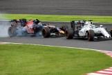 Felipe Massa (Williams F1 Team, FW38) and Carlos Sainz Jr. (Scuderia Toro Rosso, STR11)