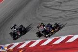 Fernando Alonso (McLaren Honda, MP4-31) and Carlos Sainz Jr. (Scuderia Toro Rosso, STR11)