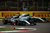 Lewis Hamilton and Valtteri Bottas (Mercedes AMG F1 Team, F1 W08 Hybrid)