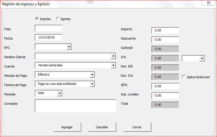 Libro de Ingresos y Egresos en Excel ( Actualizado a CFDI 3.3 )
