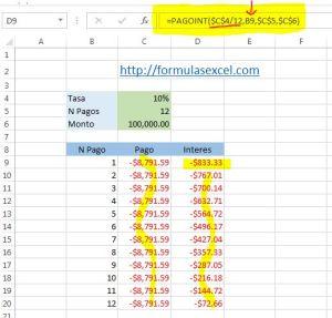 calcular intereses en excel - funcion pagoint 2