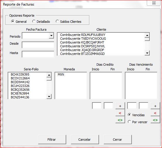 Reportes CobranzaFX 4.0