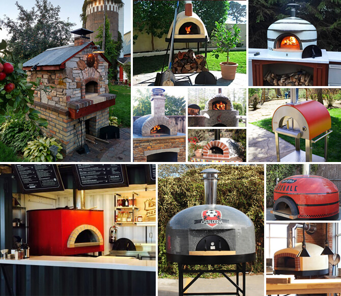 authentic wood fired pizza ovens