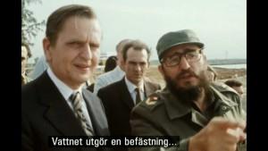 Olof Palme och Fidel Castro