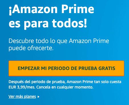 Como tener Amazon Prime gratis