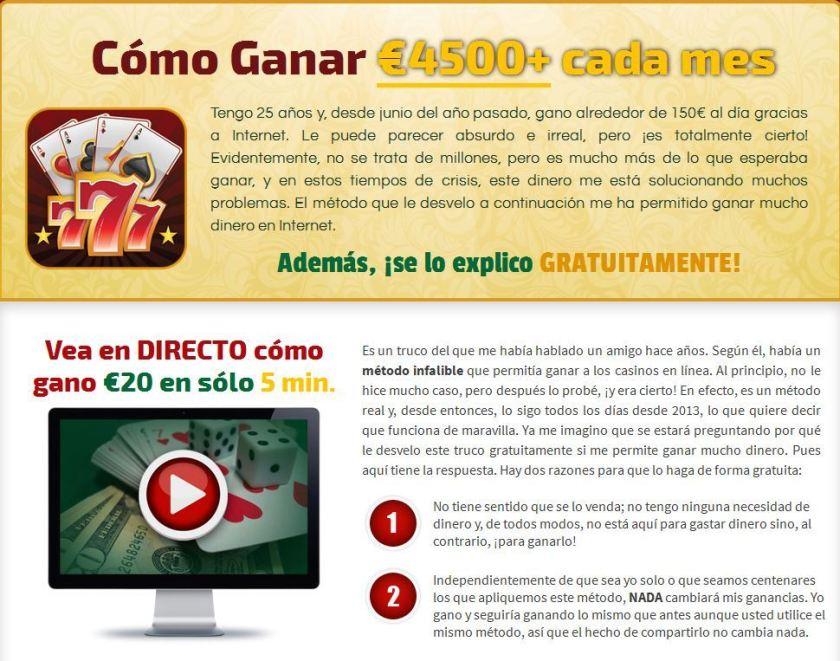 estafa martingala casino timo theplayprofit playcashsystem