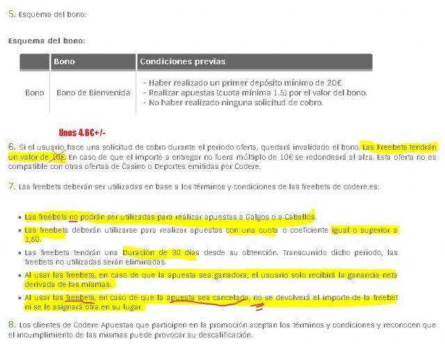 bono bienvenida codere codereapuestas 2 foronaranja