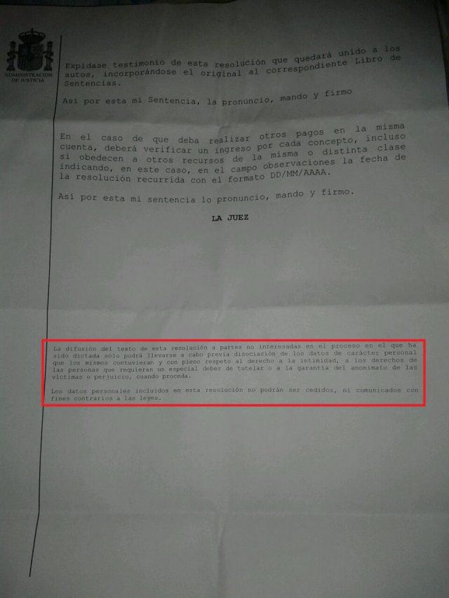betsson juicio verbal sentencia 4 foronaranja