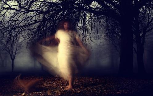 fantasma en un parque