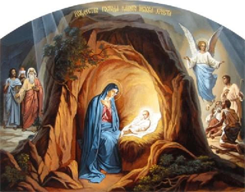 nacimiento en la gruta de belen