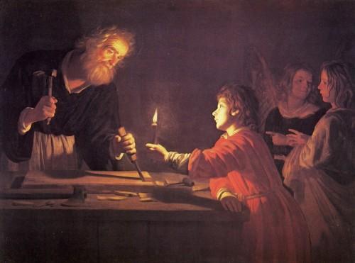 san jose y jesucristo Gerard Van Honthorst