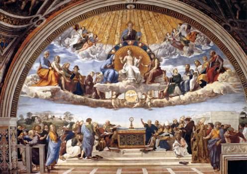 la disputa del santisimo sacramento de rafael sanzio