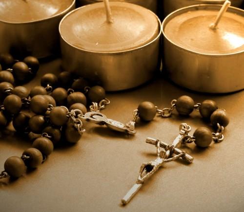 velas y rosario fondo
