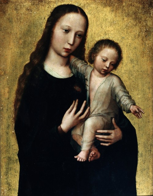 Benson la virgen maria y el niño fondo