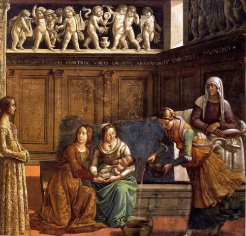 Ghirlandaio natividad de maria