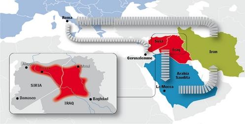 ruta de conquista del califato islamico