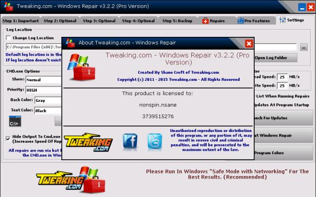 Windows Repair PRO 4.0.15 Final Portable [ Crack + Keygen ] Free Full Download
