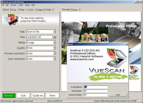 VueScan Pro 9.6.06 2018 Crack & Serial Keys Download With Patch [Latest]