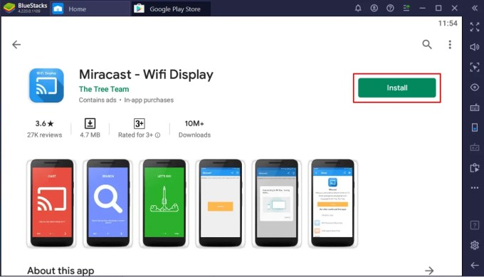 Install Miracast for PC