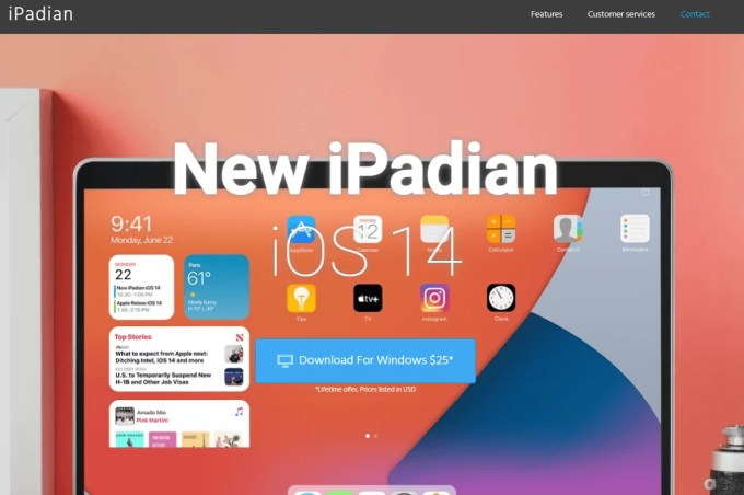 Select Download for Windows to get iPadian emulator