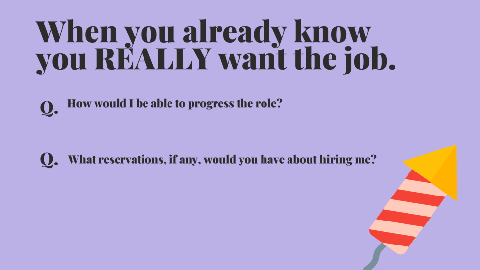 questions to ask employers when you really want the job