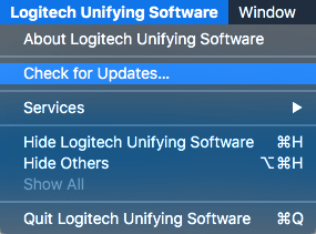 Logitech Check for Updates