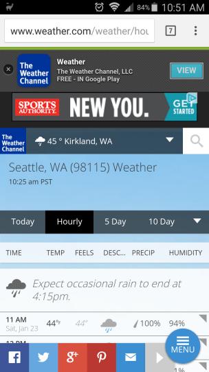 weather.com responsive